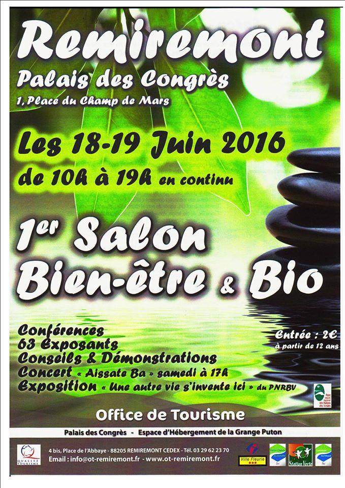 1er Salon Bien-être & bio les18 et19 juin 2016 à Remiremont